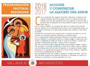 Programación Pastoral Diocesana 2017