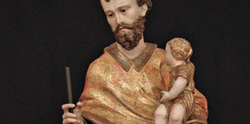 """Restauran la talla de """"San José con el niño"""" por el 450 aniversario del convento de las MM Carmelitas de Medina del Campo"""