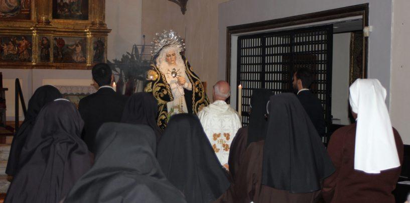 La cofradía OFS La Cruz Desnuda celebra Ntra. Sra. de la Soledad