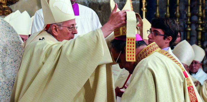 Mons. Gil Tamayo recibe la ordenación del Cardenal Ricardo Blázquez como obispo de Ávila, en una multitudinaria celebración