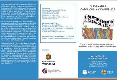 Jornadas católicos y vida pública (3 y 4 de mayo)