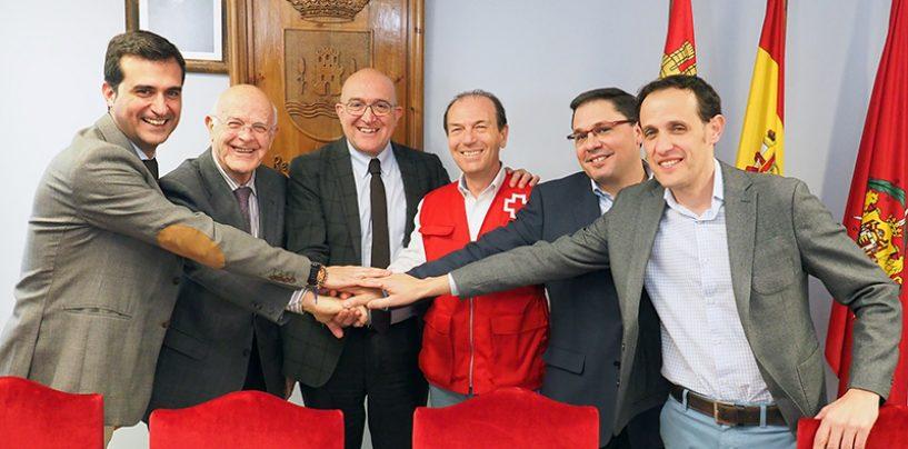 Cáritas, Banco de Alimentos y Cruz Roja firman los convenios contra la exclusión social de la Diputación de Valladolid
