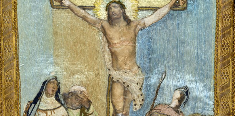 Cultura y Turismo restaura el Banderín de la Cofradía de la Crucifixión del Señor 'Longinos' de Medina de Rioseco