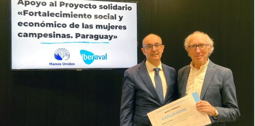 Iberaval y sus empleados donan 2.100 euros al proyecto de Manos Unidas 'Fortalecimiento social y económico de las mujeres de Paraguay'