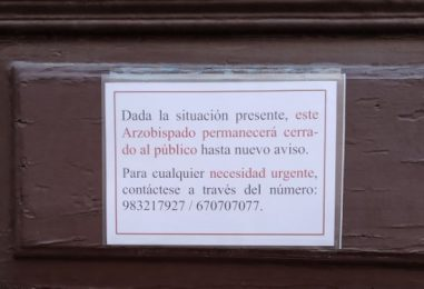 Cierre al público de las oficinas del Arzobispado
