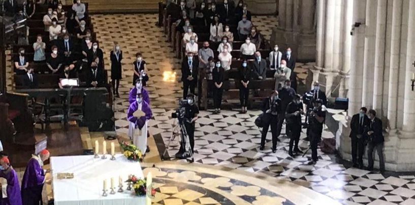 Misa funeral por los fallecidos por el Covid-19 en la catedral de la Almudena