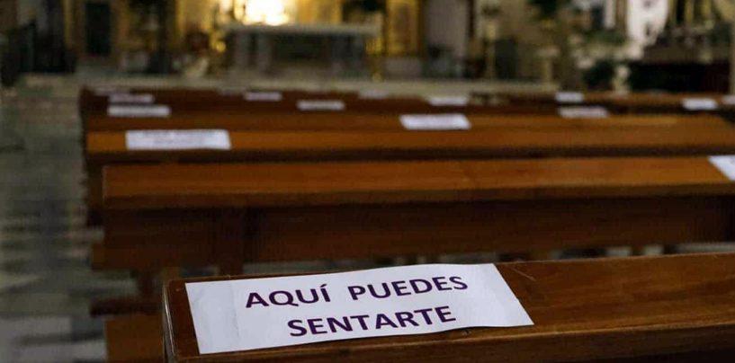 La Junta decreta un máximo de 25 personas en los templos desde este sábado, 16, a las 20h.