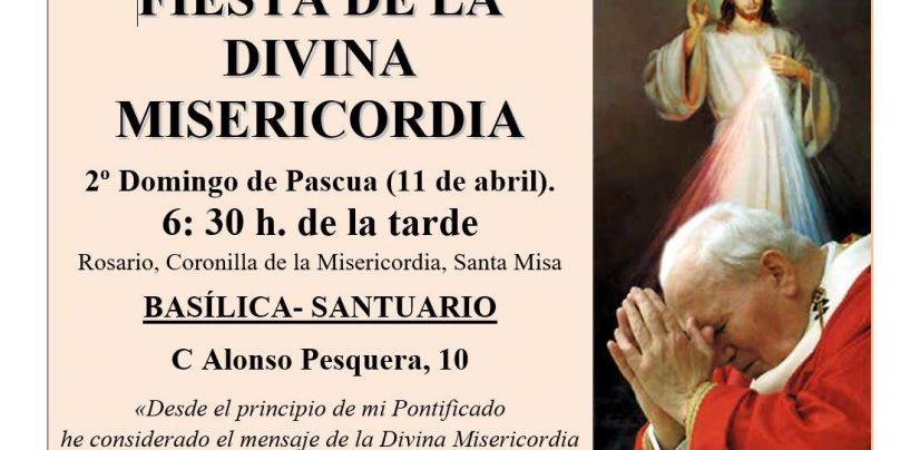La Basílica acoge el domingo los cultos de la Divina Misericordia