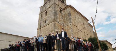 Bendición de las obras de ampliación del atrio de la Iglesia de Fombellida